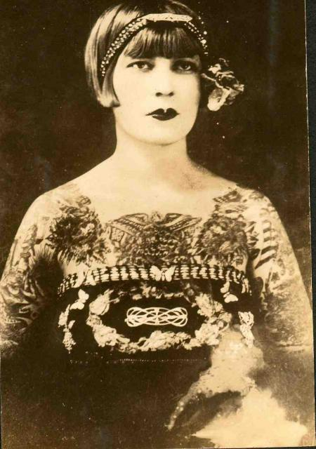 Tattooed Lady - Early 1900s