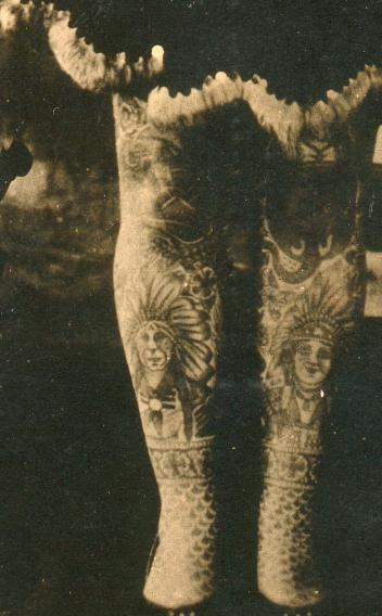 Tattooed Legs - Early 1900s