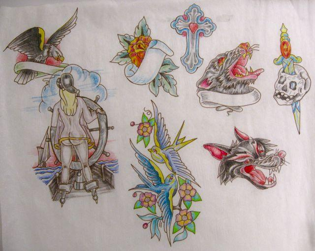 Miscellaneous tattoo designs, female sailor